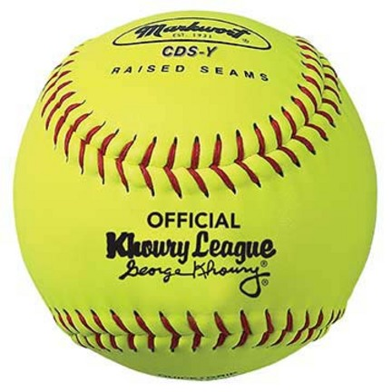"12"" Chic, Sophomore, Debutante, Senior Khoury League Softballs from Markwort - 1 Dozen"