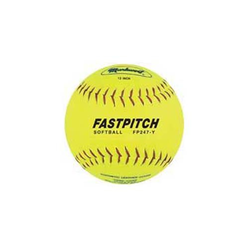 "12"" PU Laminated Split Leather Fast Pitch Softballs from Markwort - 1 Dozen"