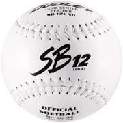"12"" Spalding SB12L Cork Center White Stitch .47 COR Softballs from Dudley - (One Dozen)"