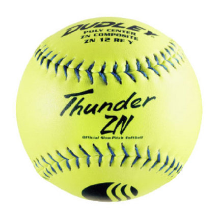 "12"" Thunder ZN USSSA Softballs from Dudley - 1 Dozen"