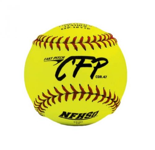 "12"" Yellow CFP Fast Pitch Softballs from Dudley - 1 Dozen"