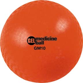"15 lb. 10"" Diameter Orange Gel Medicine Ball (Set of 2)"