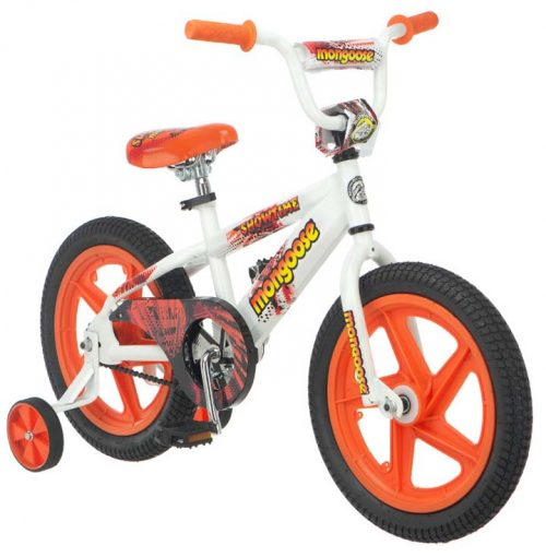 "16"" Boy's Showtime Bicycle / Bike from Mongoose (White / Orange)"
