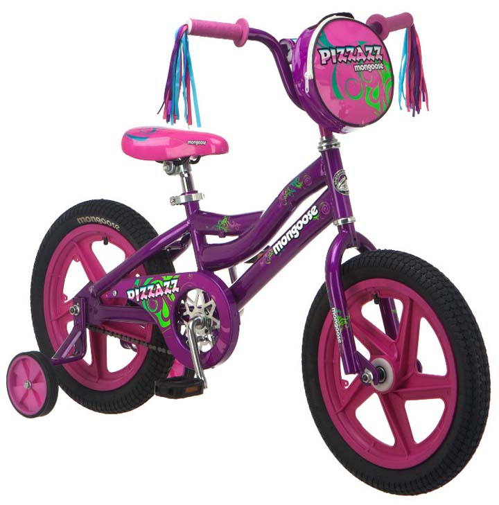 "16"" Girl's Pizzazz Bicycle / Bike from Mongoose (Purple / Pink)"