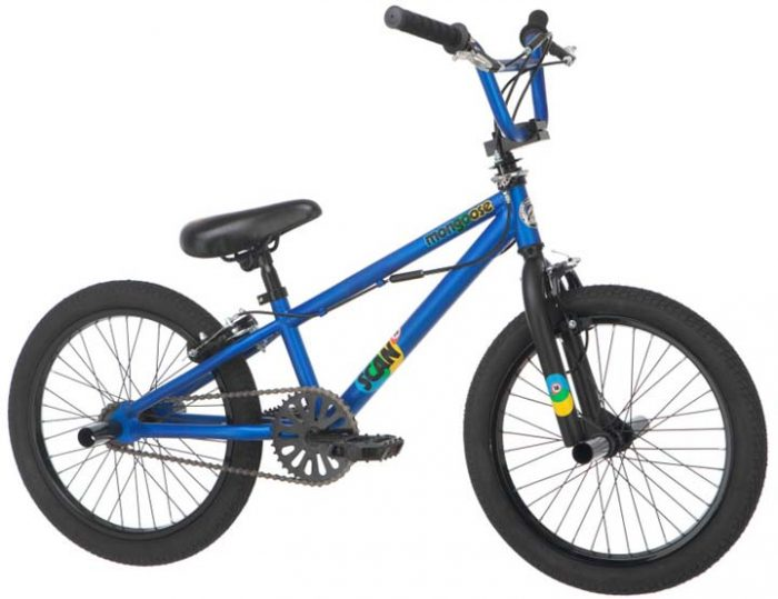 "18"" Boy's Scan Junior BMX Bicycle / Bike from Mongoose (Matte Blue)"