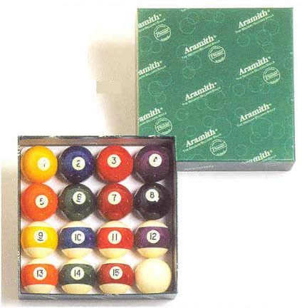 "2 1/4"" 6 oz. ""Aramith Premier"" Belgian Aramith Billiard Ball Set (16 Ball Set) from Imperial International"