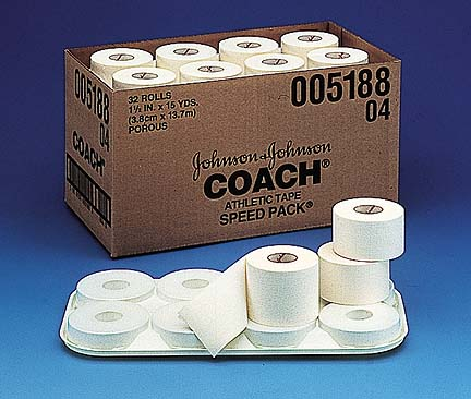"2"" Johnson & Johnson Coach Athletic Tape - 15 yards (24 rolls)"
