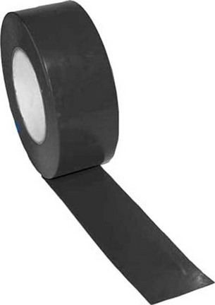 "2"" Width Gym Floor Black Vinyl Plastic Marking Tape - Set of 10 Rolls"