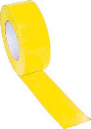 """2"""" Width Gym Floor Yellow Vinyl Plastic Marking Tape - Set of 10 Rolls"""
