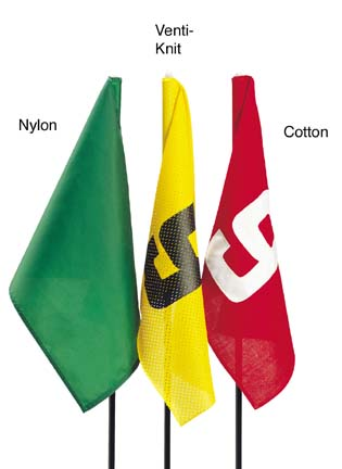 "20"" x 14"" Solid Colored Nylon Golf Flag with Grommets - Set of 9 Flags"