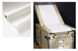"24"" x 260' Smooth Exam Table Paper - Case of 8 Rolls"