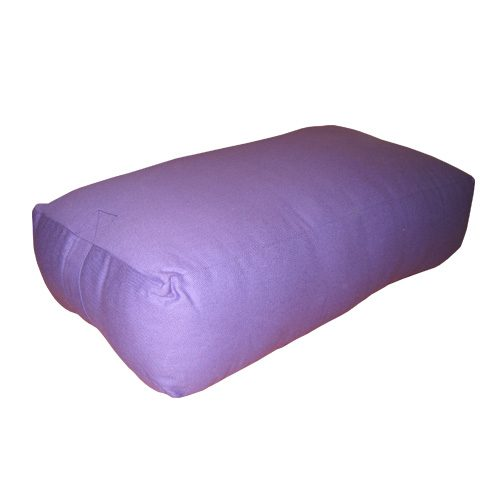 25 x 16 in. Rectangular Yoga Bolster Canvas Cover - Purple