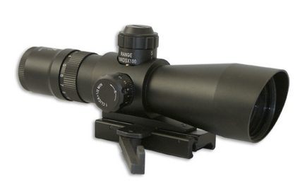 3-9x42 Rifle Scope Compact Red and Green Illumination Mil-Dot/Green Lens/Quick Release