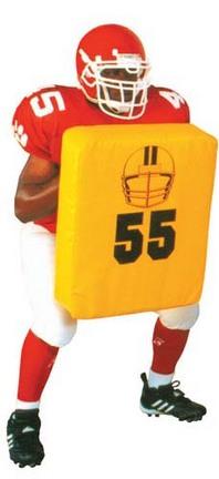 "3"" Rectangular Football Body Shield"