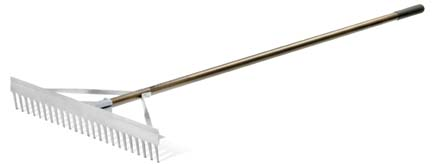 "30"" Magnum Maintenance Straight Tooth Rake from Standard Golf"