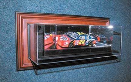 "4th Dimension"" ""Case-Up"" 1 / 24 Scale Single Car Display Case in Wood Frame"