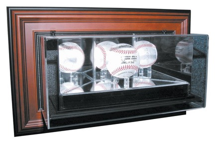 "4th Dimension"" ""Case-Up"" Single Baseball Display Case with Wood Frame"
