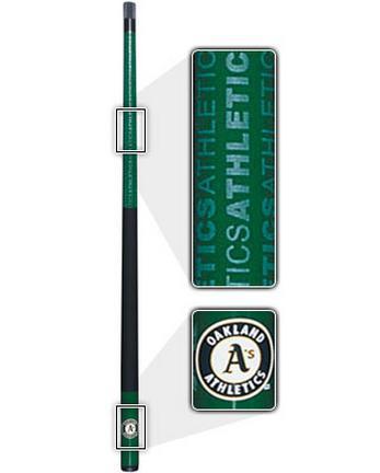 "57"" Oakland Athletics MLB Team Logo 2 Piece Cue from Imperial International"