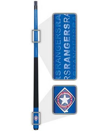 "57"" Texas Rangers MLB Team Logo 2 Piece Cue from Imperial International"