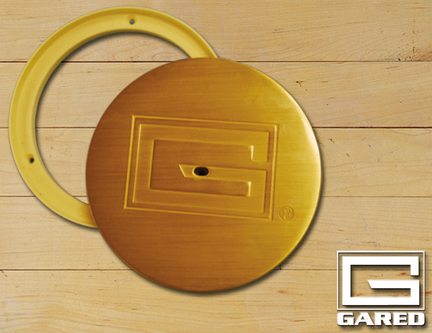 """6 1/4"""" Outside, 5"""" Inside Diameter Swivel Brass Cover Plate"""