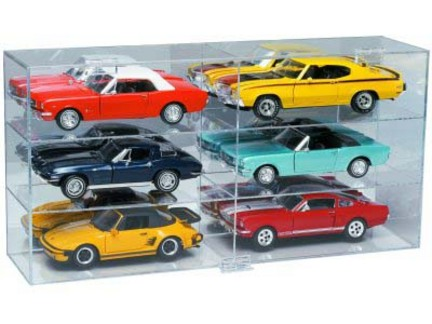 6 Car 1/18 Scale Display Case from Clearwater Displays