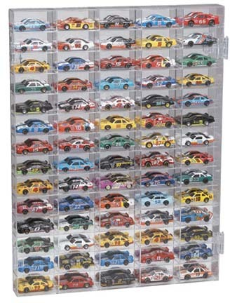 70 Car Mirrored Back Display Case for 1/64 Scale Cars from Clearwater Displays