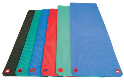 72 in. Elite Workout Mat with Eyelets - Blue