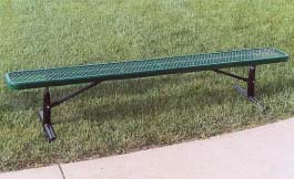 8' Portable Park Bench without Back (Framework Only)