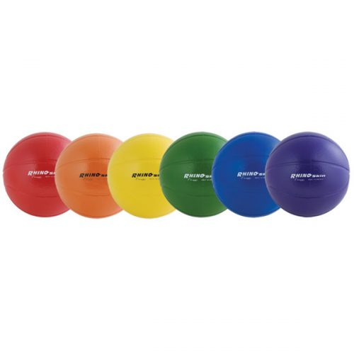 9 in. Rhino Skin Ball Set Multicolor - Set of 6