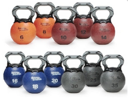 AGM Group 35839 Elite Kettlebell Medicine Ball - Gray 30 Lb