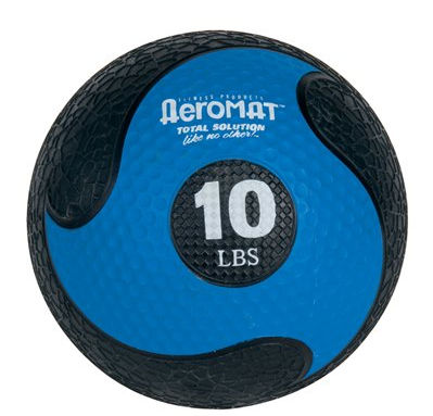 AGM Group 35864 Elite Deluxe Low Bounce Medicine Ball - Black-Blue 10 Lb