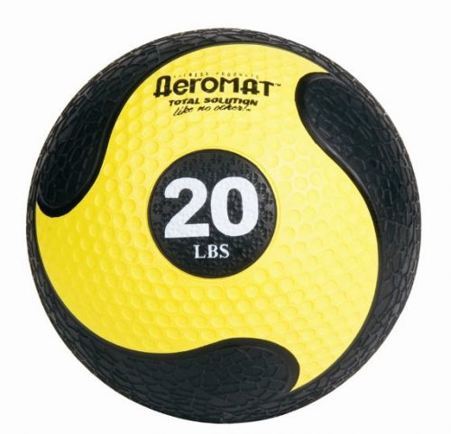 AGM Group 35936 10.8 in. Deluxe Medicine Ball - Black-Yellow