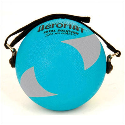 AGM Group 35944 5 in. Power Yoga-Pilates Weight Ball - Teal-Gray
