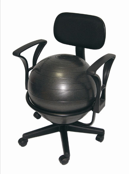 AGM Group 35955 Ball Chair Deluxe - Black Steel Structure