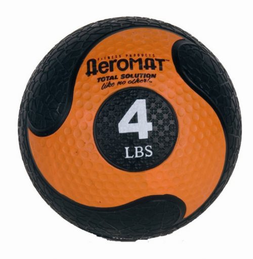 AGM Group 35965 7.75 in. Deluxe Medicine Ball - Black-Orange