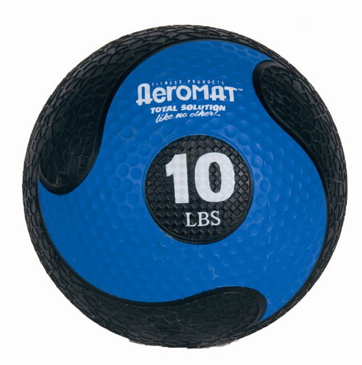 AGM Group 35968 9 in. Deluxe Medicine Ball - Black-Blue
