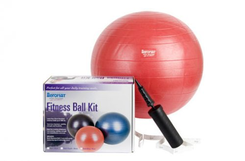 AGM Group 38111 55 cm Fitness Ball Kit - Red