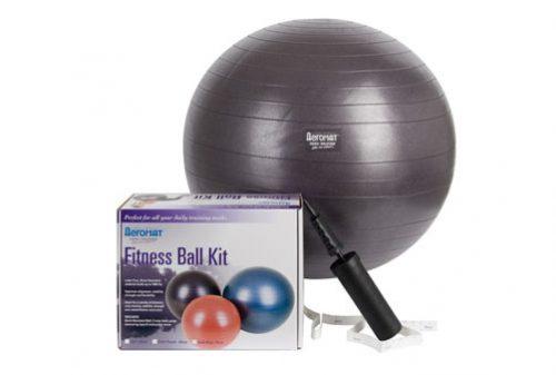 AGM Group 38112 65 cm Fitness Ball Kit - Dark Purple