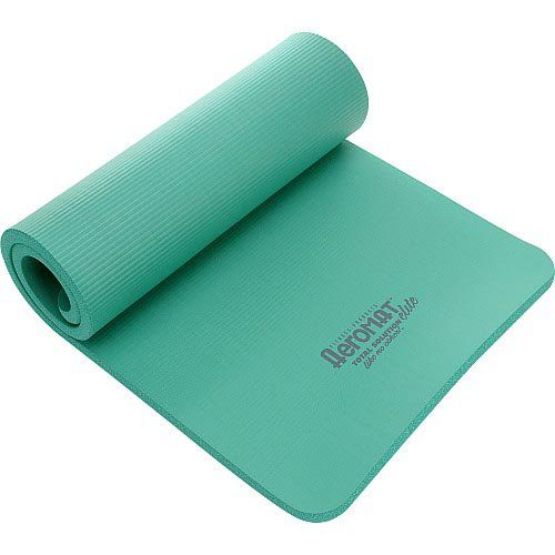 AGM Group 71516 56 in. D Elite Dual Smooth Surface Ribbed Mat - Green