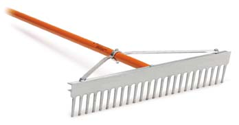 "AccuSmooth 24"" Landscape Rake with 66"" Aluminum Handle"
