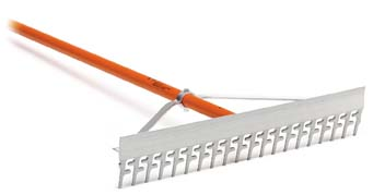 "AccuSmooth 24"" Screening Rake with 66"" Aluminum Handle"
