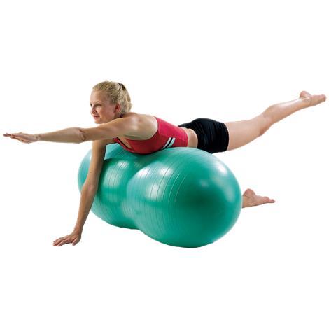 AeroMat 35247 60 cm Therapy Peanut Ball Burst Resistance - Red