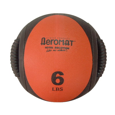 Aeromat 35131 Dual Grip Power Med Ball- Black- Red