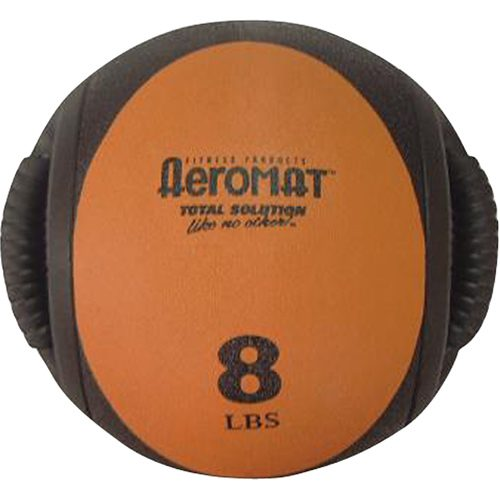Aeromat 35132 Dual Grip Power Med Ball- Black- Orange