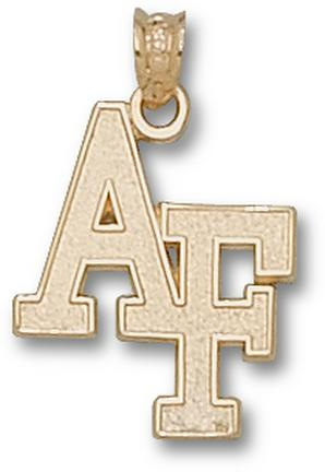"Air Force Academy Falcons ""AF"" 3/4"" Pendant - 10KT Gold Jewelry"