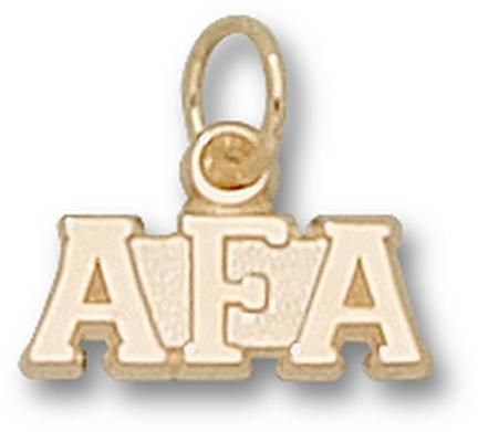 "Air Force Academy Falcons ""AFA"" Charm - 14KT Gold Jewelry"