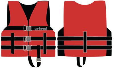 Airhead Child General Life Jacket - Red Wetsuit