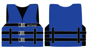 Airhead Nylon Youth PFD Open Side - Blue Wetsuit