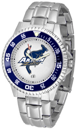 Akron Zips Competitor Watch with a Metal Band