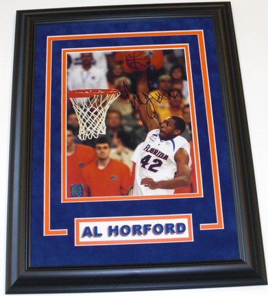 "Al Horford Autographed Florida Gators 8"" x 10"" Custom Framed"